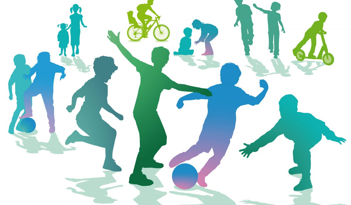 vector image of children playing
